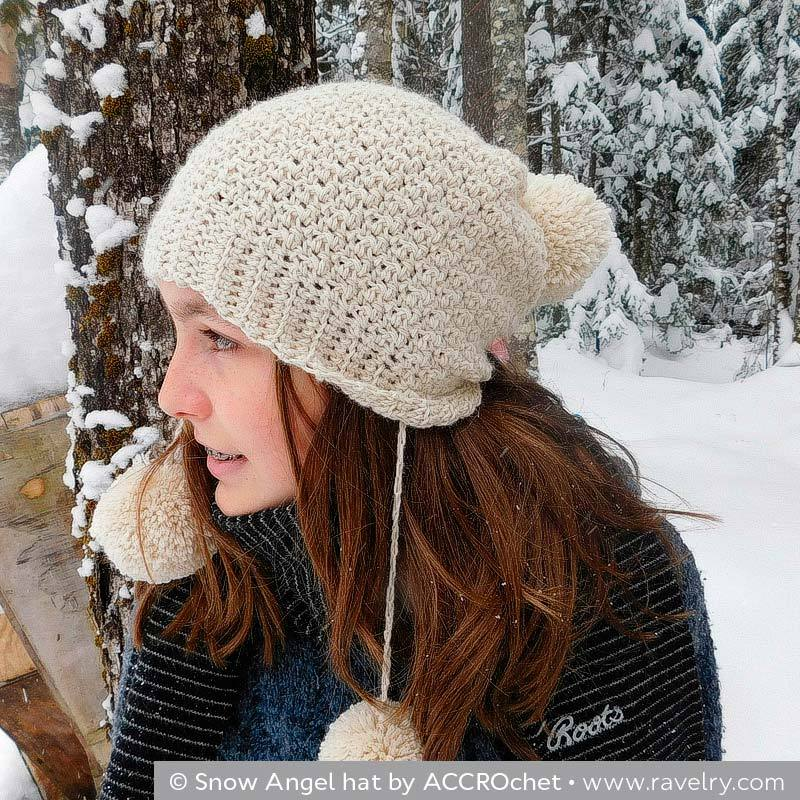 © Snow Angel hat by ACCROchet • www.ravelry.com