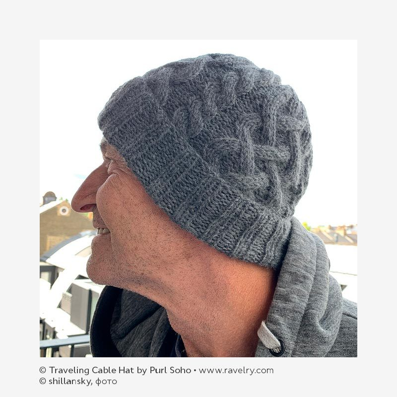 © Traveling Cable Hat by Purl Soho • www.ravelry.com