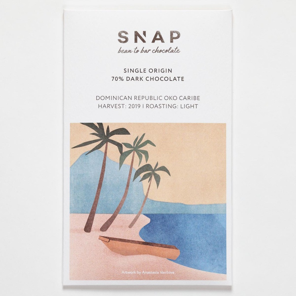 SNAP шоколад Dominican Republic Oko Caribe 70% 50 г